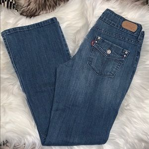 💙 Women's Levi's 526 Slender Boot Blue Jeans.